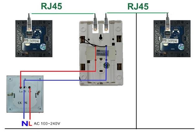 panele informacyjne dotykowe dnd mur standard schemat podłączenia wyłącznik prądu